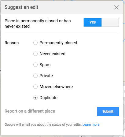 Delete Duplicate Listing | Google My Business Advantages