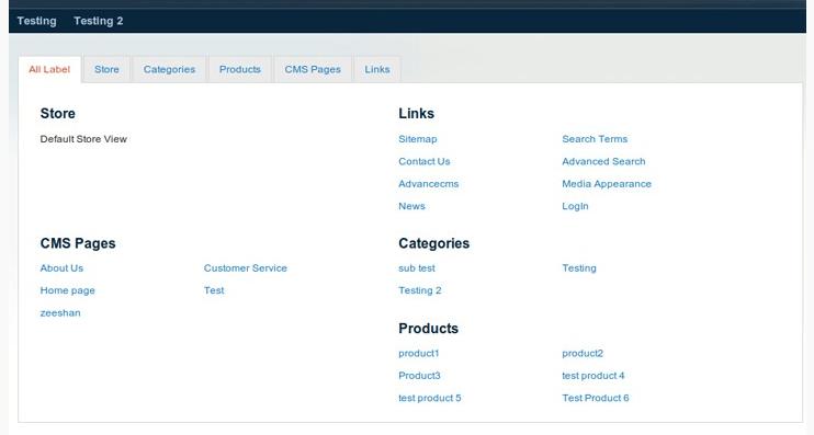 HTML sitemap | magento seo extensions iWeb