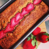Strawberry Banana Protein Bread