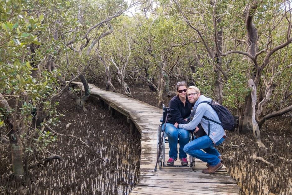Moment de répit très apprécié dans les mangroves !