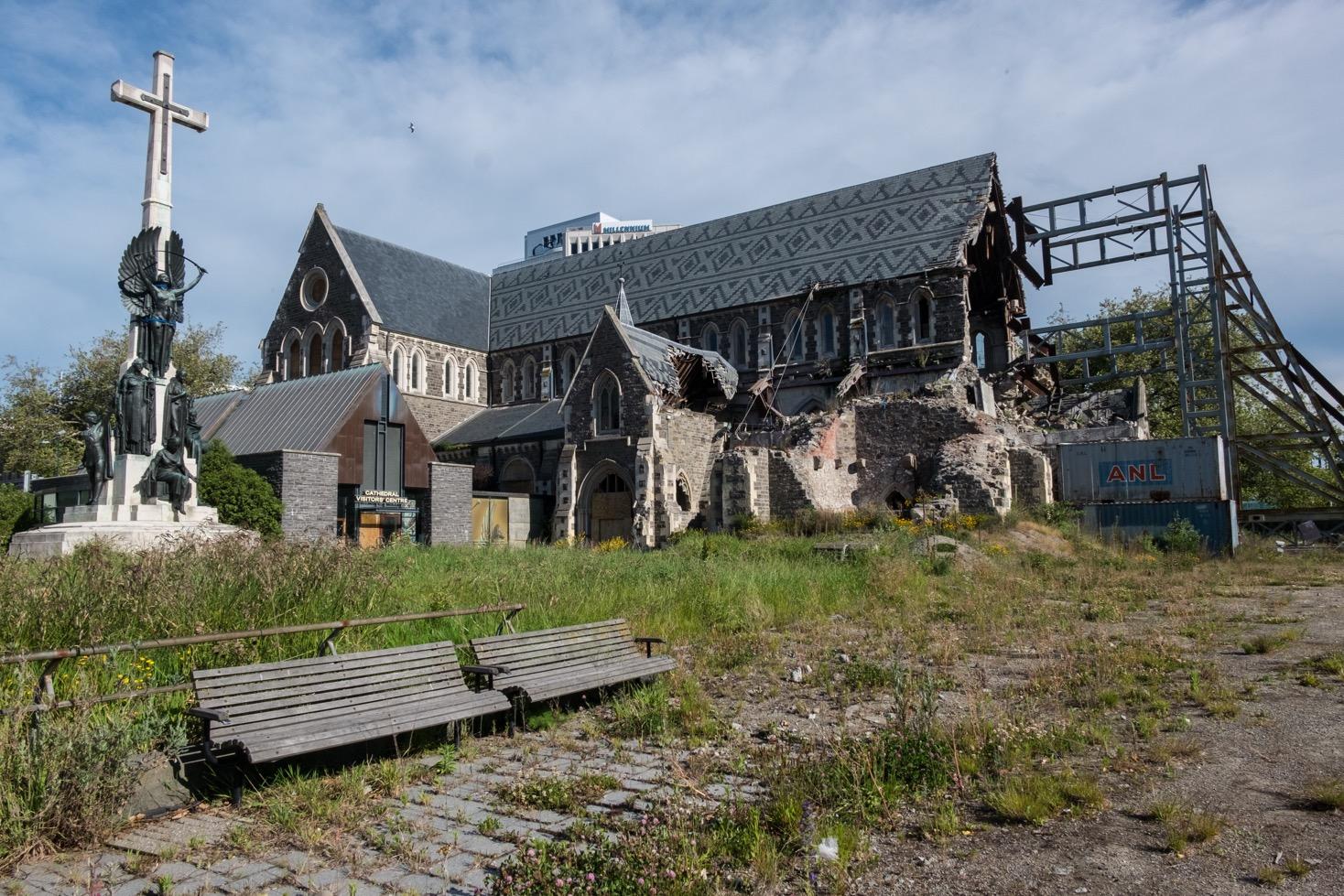 cathédrale christchurch tremblement de terre