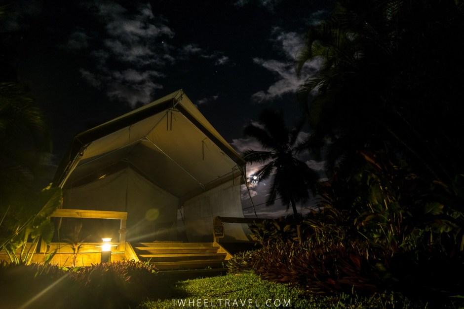 L'extérieur de notre tente.