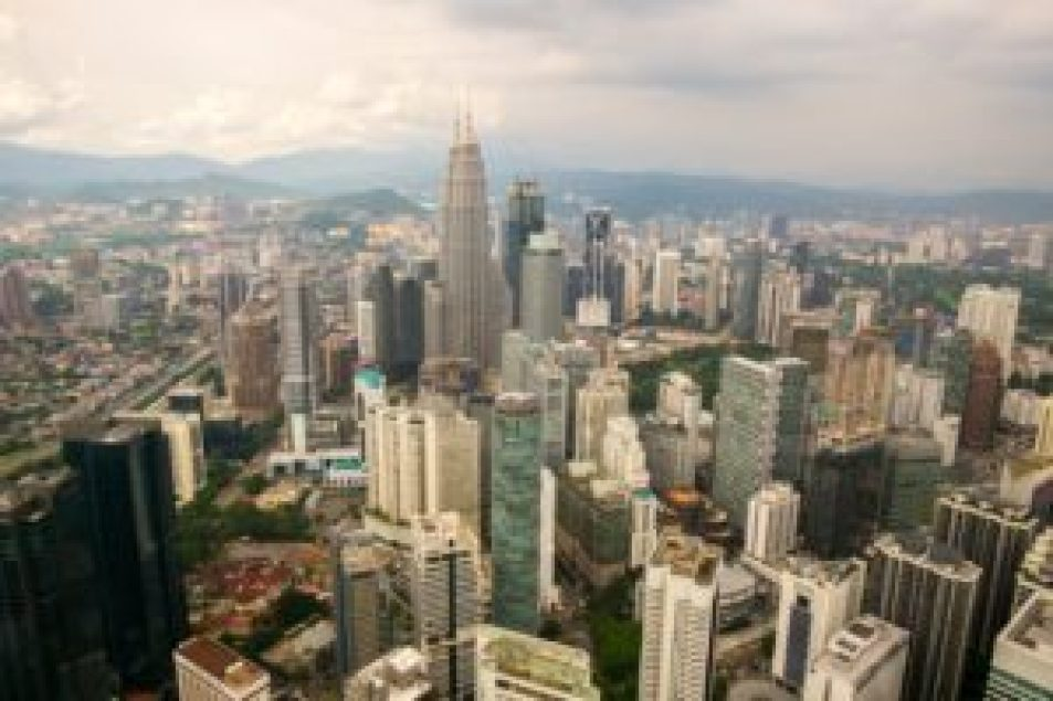 Kuala Lumpur vue depuis l'observatoire de la tour Menara.