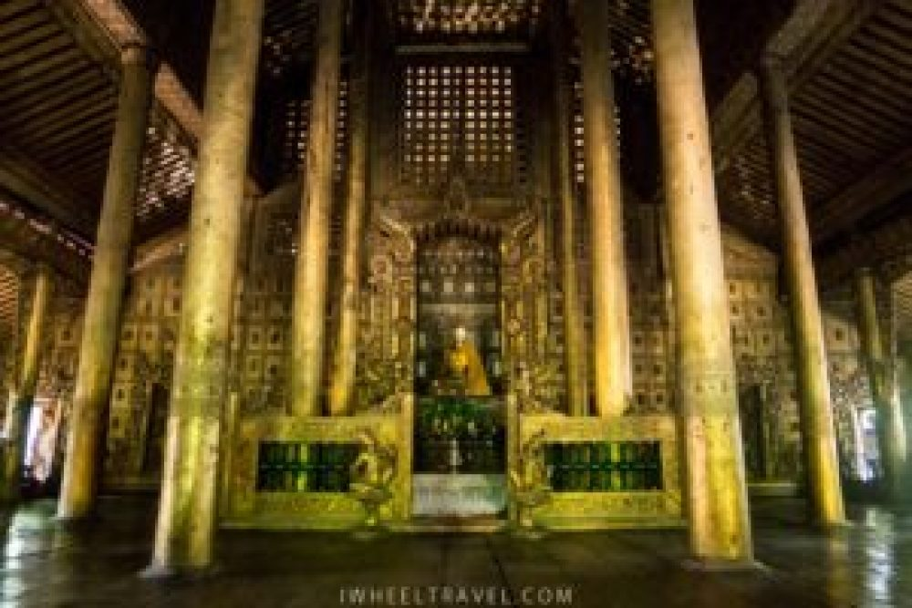 Le lieu de méditation à l'intérieur du monastère.