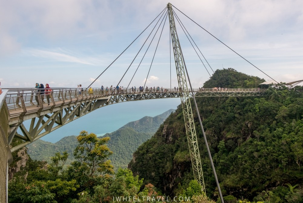 Le skybridge à Langkawi. L'accès y est payant.