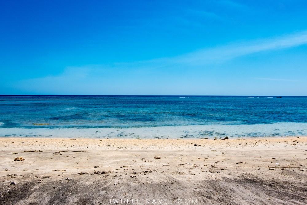Une plage au nord de Gili Air.