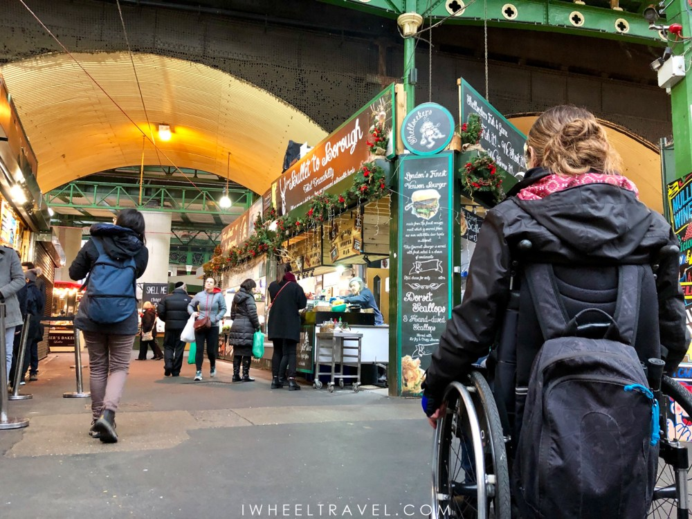 Borough market london wheelchair