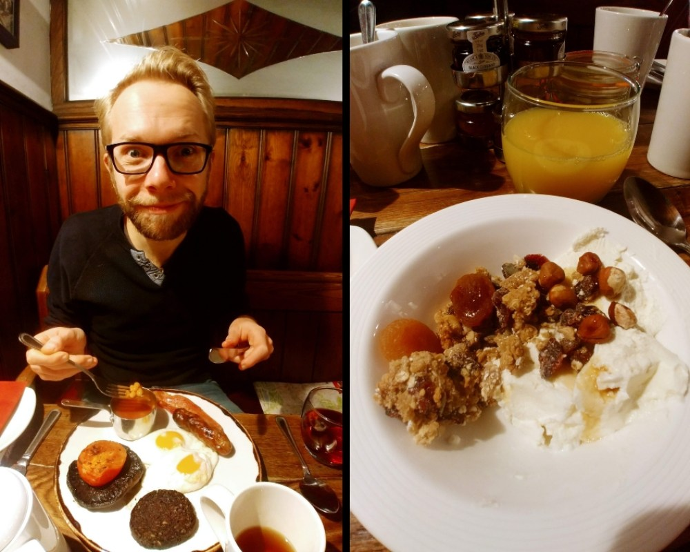 English breakfast Mad Hatter Hotel London