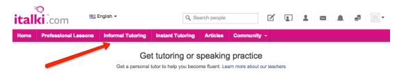 informal tutoring