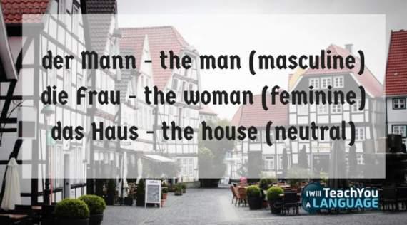 german word gender