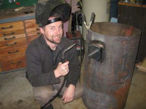 Rocket stove crazy welder
