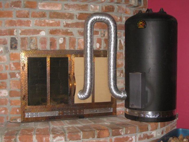 Exterior House Furnace Heater Wood Burning