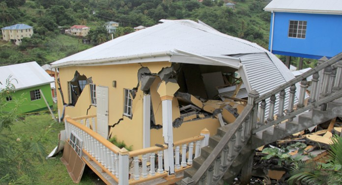 The house after it collapsed on Sept. 19. (IWN photo)