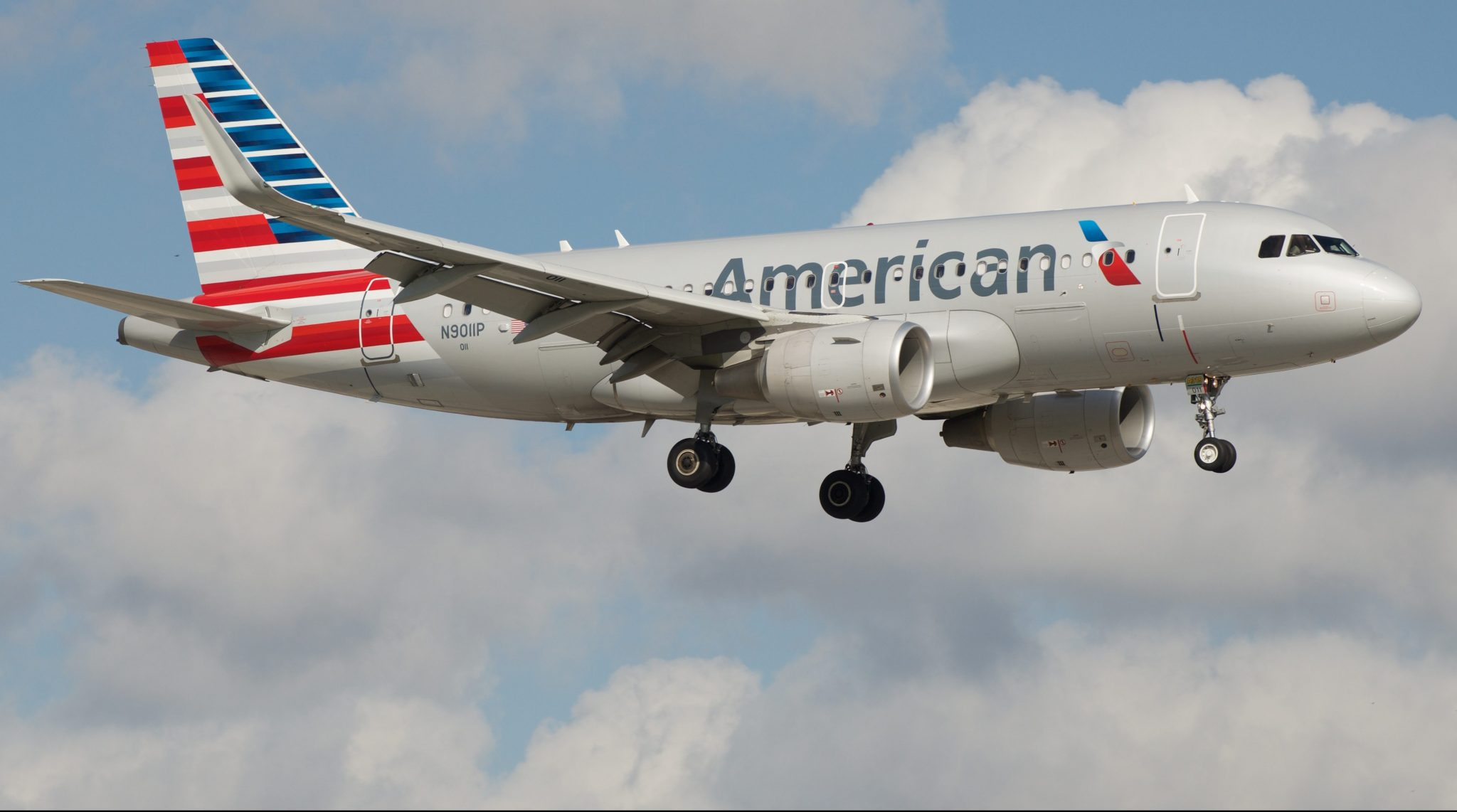 An American Airlines A319 aircraft the type