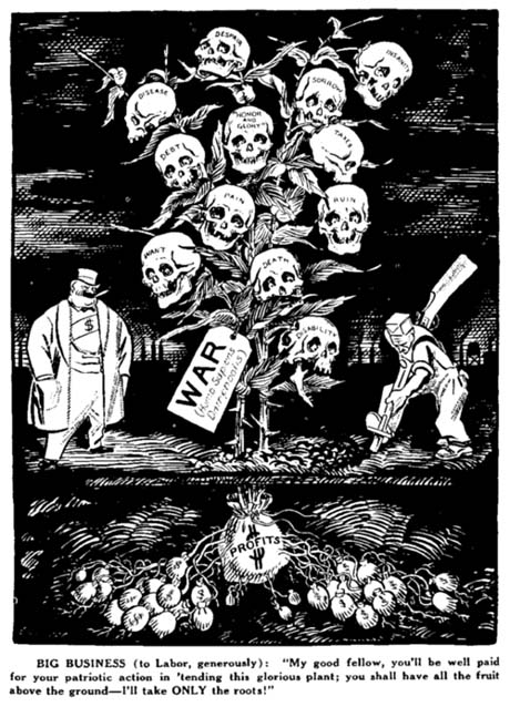 IWW depiction of the War Plant [11