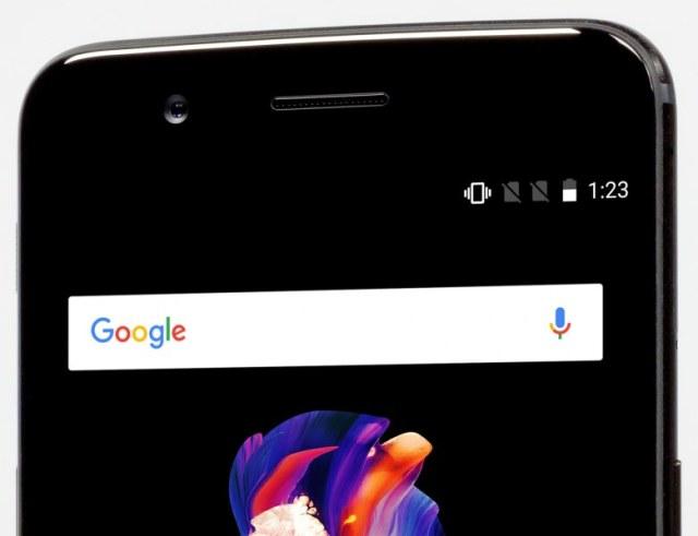 телефонный динамик, фронтальная камера OnePlus 5