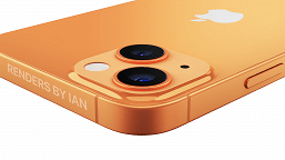 iPhone 13 in gold and blue poses for high quality and large renders