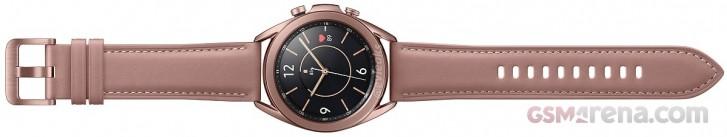 Так выглядят умные часы Samsung Galaxy Watch3 в бронзе