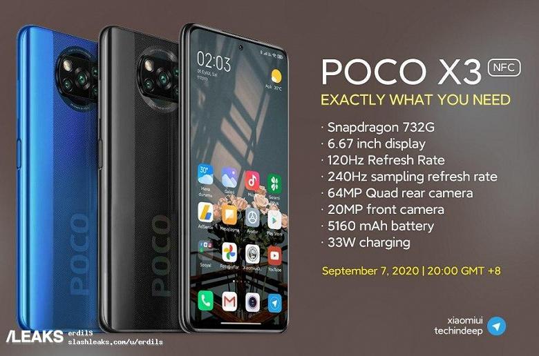 Качественное изображение и характеристики Poco X3 NFC