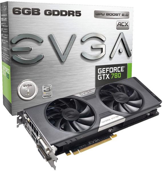 Цены новых карт EVGA GeForce GTX 780 начинаются с $550