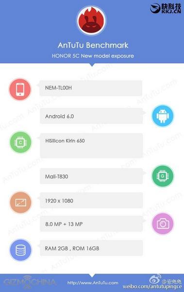 SoC HiSilicon Kirin 650 набирает в AnTuTu 53 000 баллов