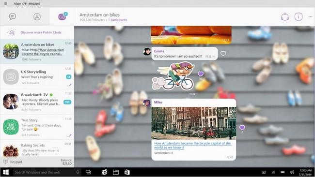 Viber доступен на всех устройствах с Windows 10