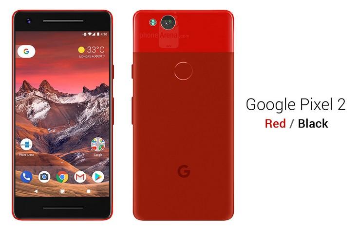 Смартфон Google Pixel 2 будет доступен в пяти цветах