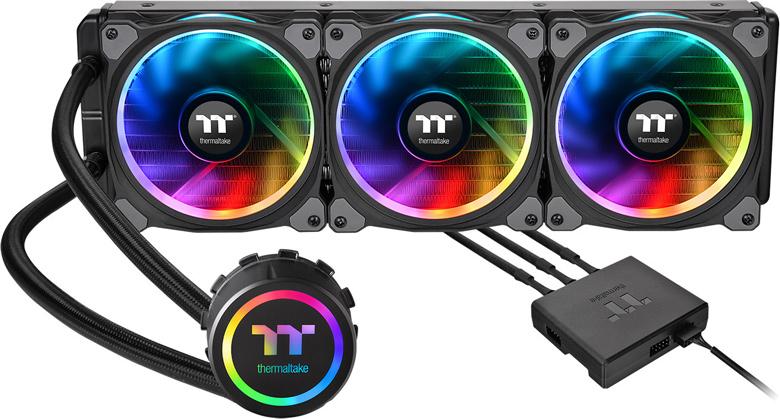 Системы жидкостного охлаждения Thermaltake Floe Riing RGB TT Premium Edition оснащены полноцветной подсветкой