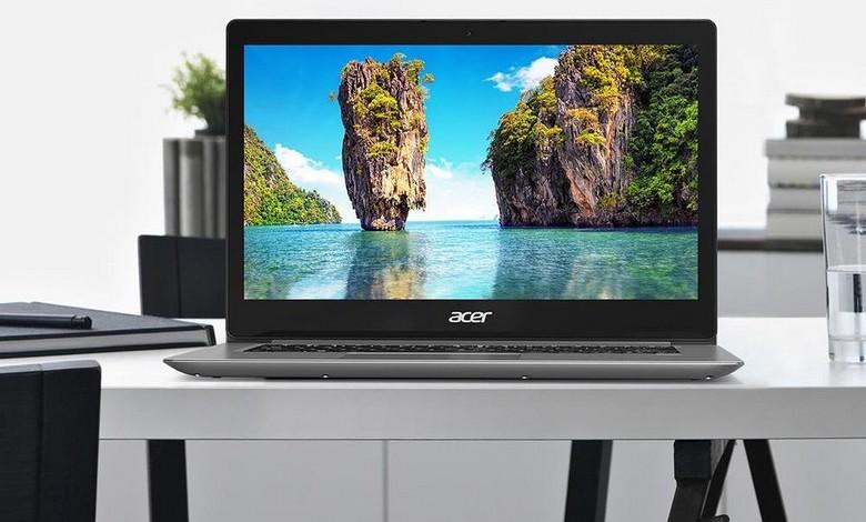 Acer Swift 3 с CPU Core i5-8250U уже можно купить