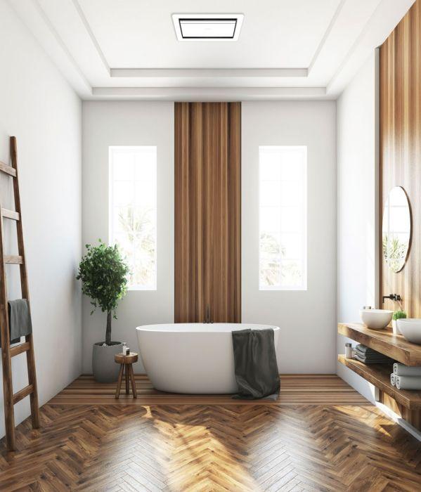 tastic luminate vent bathroom exhaust fan silver