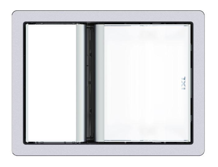 tastic luminate single 3 in 1 bathroom heater exhaust fan light silver