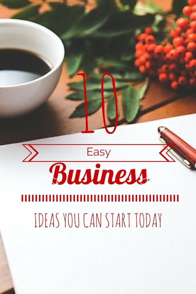 10 Easy Business ideas