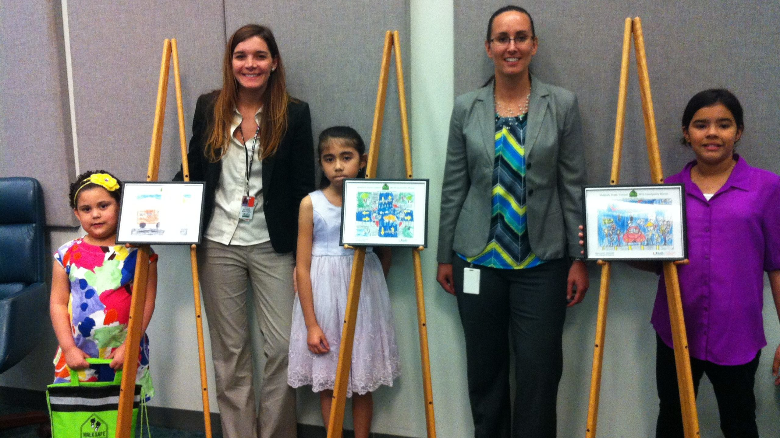 Three Orange County Students Winners In Statewide Pedestrian Safety Poster Contest