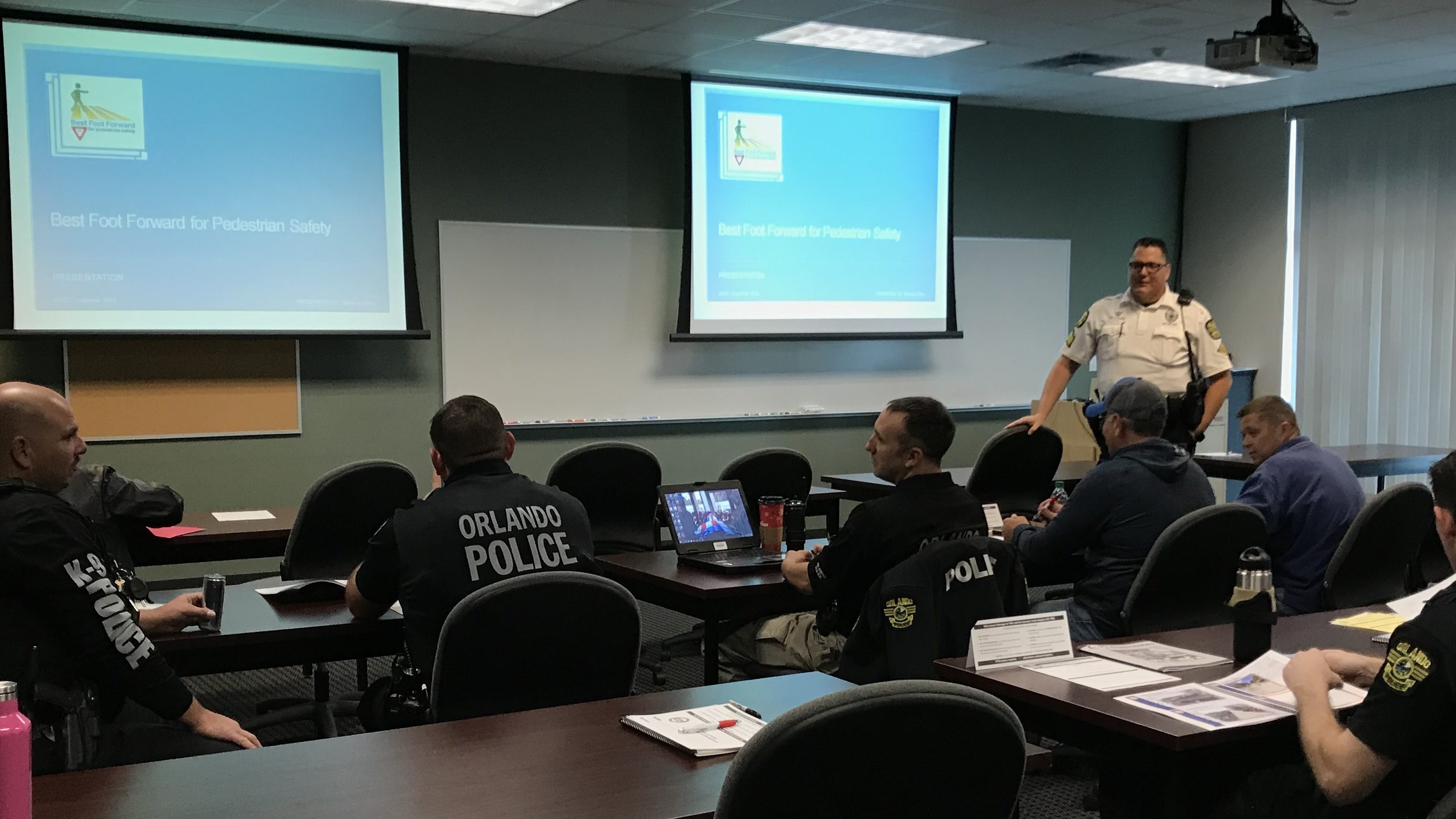 Orlando Area Police Officers Train In Pedestrian/bicycle Safety Law Enforcement