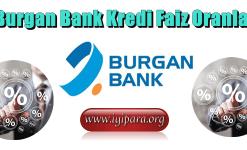 Burgan Bank Kredi Faiz Oranları (Güncel Bilgiler)