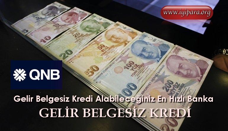 Gelir Belgesiz Kredi Alabileceğiniz En Hızlı Banka