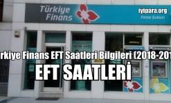 Türkiye Finans EFT Saatleri Bilgileri 2019