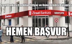 Ziraat Bankası Emekliye İhtiyaç ve Konut Kredisi Başvurusu