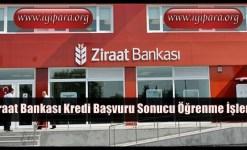 Ziraat Bankası Kredi Başvuru Sonucu Öğrenme İşlemi