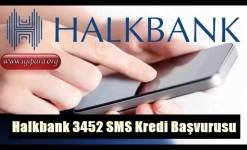 Halkbank 3452 SMS Kredi Başvurusu