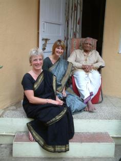 Julie with Guruji