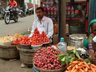 pop-up fruit shop