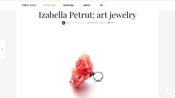 press interview with izabella petrut for the stylistbook