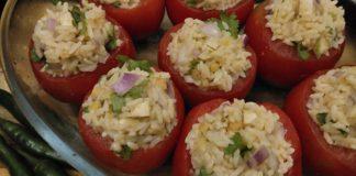 Recette N°135 - Tomates farcies veg et sans gluten - Crédit photo izart.fr