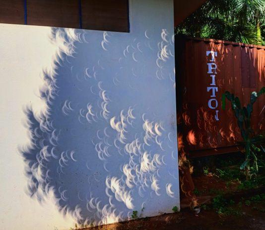 La rare éclipse du soleil - Crédit photo izart.fr