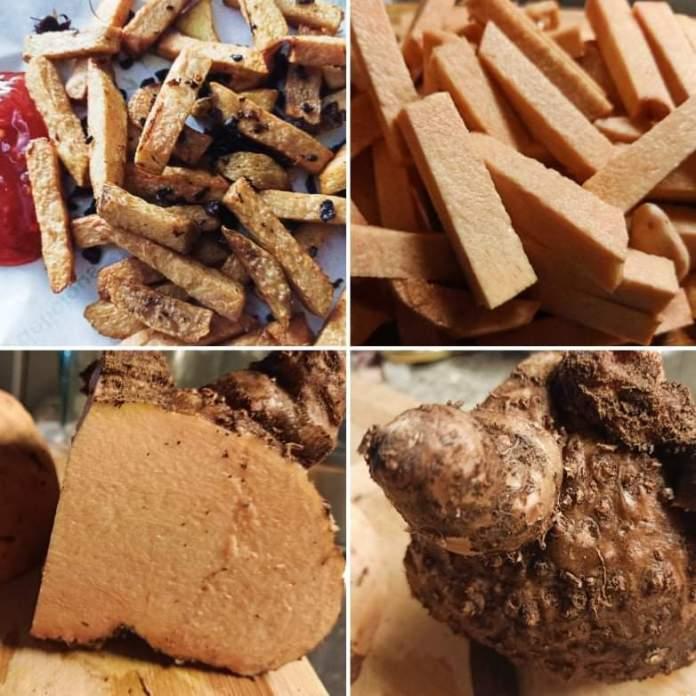 Recette N°259 - Frites de yam au vadouvan - Crédit photo izart.fr