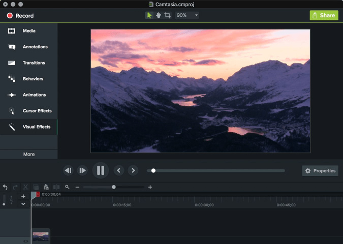 camtasia stabilize video