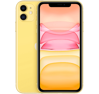 Apple iPhone 11 128GB Yellow O2 Unltd Allowances for £38 (12m)