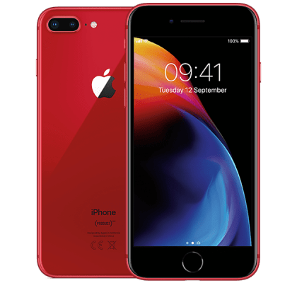 Apple iPhone 8 Plus 256GB Red 24 months contract
