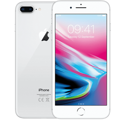 Apple iPhone 8 Plus 256GB Silver O2 Unltd Allowances for £38 (24m)
